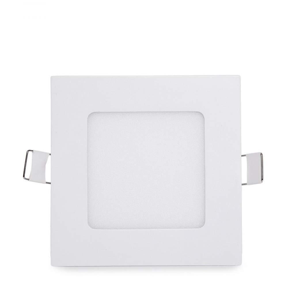Blanco Fr/ío Placa de LEDs Cuadrada Ecoline 120Mm 6W 400Lm 30.000H Greenice