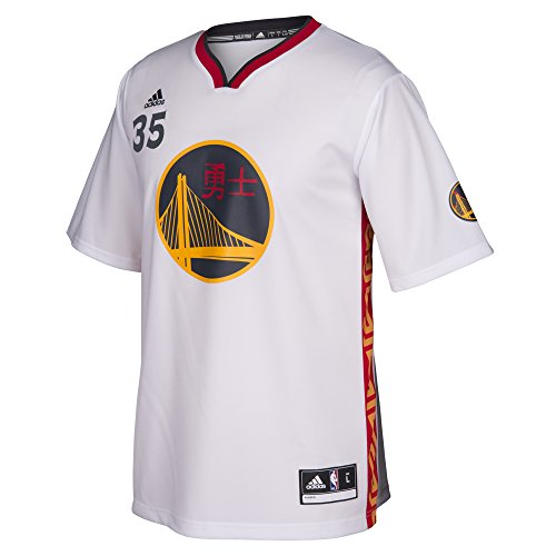 NBA Golden State Warriors Kevin Durant #35 Men's Replica Jersey, X-Large, White