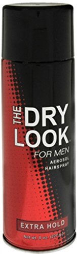 The Dry Look For Men Aerosol Hairspray Extra Hold 8 oz (Pack of 12)