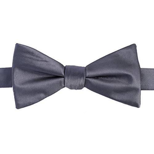 KissTies Kids' Bow Tie Gray Satin Bowtie For Kids Boys Bows + Gift Box
