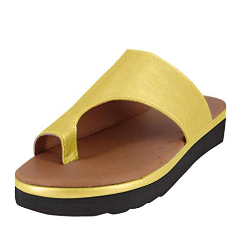 Amazon.com | Womens Fashion Flats Wedges Comfy Platform Sandal Shoes, Summer Open Toe Ankle Casual Shoes Roman Slippers Sandals Comfortable Ladies Shoes | ...