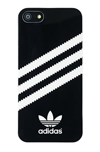 Price comparison product image adidas Hard Cell Phone Case for Apple iPhone 5S/5SE - Retail Packaging - Black/White