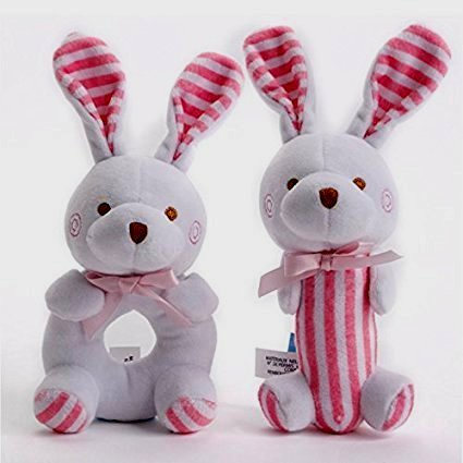 Toys Soft sqeaker Bunny Stuffed Doll Baby Newborn product image