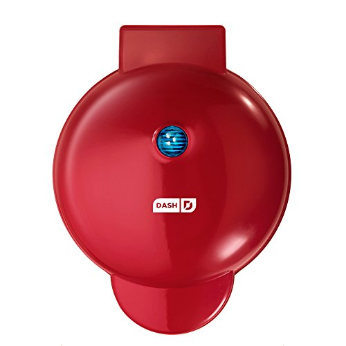 """Dash DMG8100RD 8"""" Express Electric Round Griddle for Pancakes, Cookies, Burgers, Quesadillas, Eggs & Other on The go Breakfast, Lunch & Snacks, with Indicator Light + Included Recipe Book, Red For Sale"""