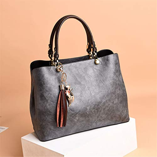 13cm 29cm In 22cm Pu Da Pelle Brown Donna Black Borse aqw4f00