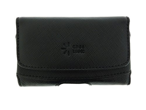Case Logic Universal Genuine Leather Black Belt Clip Holster Pouch-Horizontal - Leather Horizontal Pouch Genuine Universal