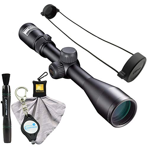 Nikon Buckmasters II 3-9x40mm Rifle Scope BDC Reticle (16338), Black Bundle Lens Pen, Cleaning Cloth and Lumintrail Keychain Light