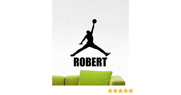 Personalized Name Wall Decal Sport Decals Basketball Boy Room Nursery Decor DR71