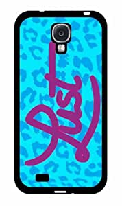 Blue Leopard Lust - Case Back Cover (Galaxy S4 - Plastic)