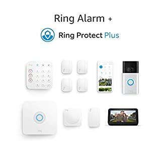 Ring Alarm 8-piece Kit (2nd Gen) with Ring Video Doorbell (2nd Gen), Echo Show 5, and Ring Protect Plus Plan with monthly auto-renewal