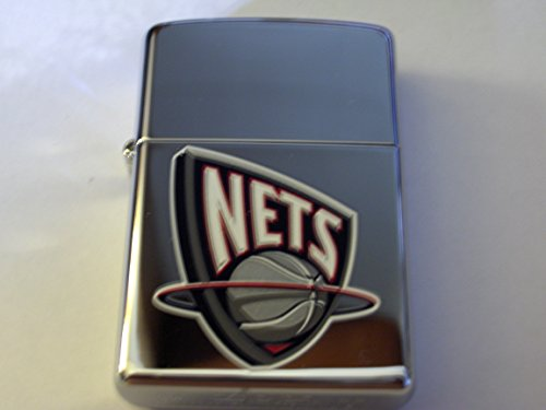 Zippo 2005 NBA New Jersey Nets National Basketball Association High Polish Chrome Lighter (Regular, -