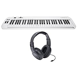 Samson Carbon 61 Key USB MIDI DJ Keyboard Controller + Software + Headphones