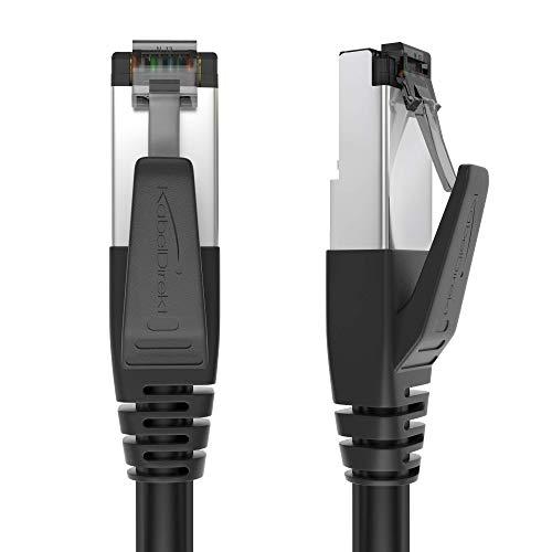 KabelDirekt - 1m - CAT8 Ethernet, Network, Lan & Patch Cable (transfiere hasta 40 Gb por segundo y es compatible con redes Gigabit de alta velocidad, Switches, Routers, Modems con puerto RJ45)