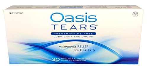 Oasis TEARS Lubricant Eye Drops, One 30 Count Box Sterile Disposable Containers, 0.3ml/0.01 fl oz ()