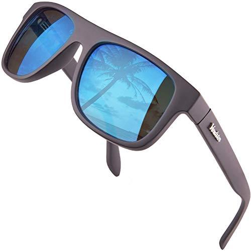 Verdster Islander – Gafas de Sol Clasicas de Espejo Anchas para Hombre & Mujer – Gafas de Sol Anchas a la Moda – Accesorios Incluidos