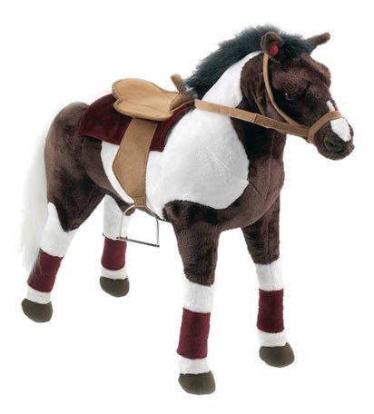 Happy People 58984 - Cowboypferd mit Sound stehend Sattel und Zaumzeug