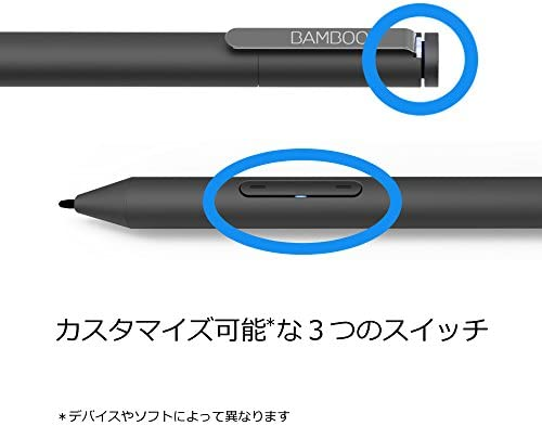 Wacom Bamboo Ink Smart Stylus Black Active Touch Pen Stylus for