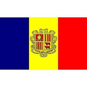 Andorra Flag 3pies x 5pies
