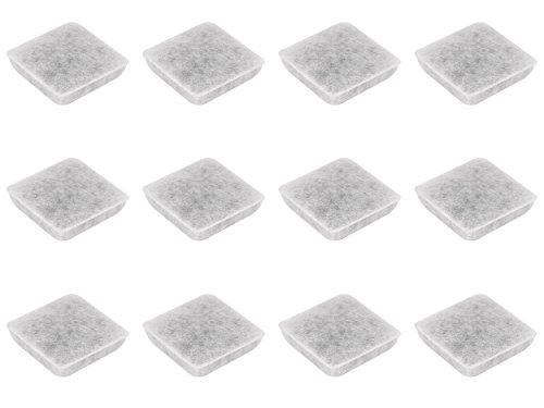 Nispira Premium Charcoal Water Filter Replacement for Petmate Replendish Mason Pet Fountains, 12 pk