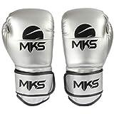 Luva de Boxe Energy, MKS, Prata Metálico
