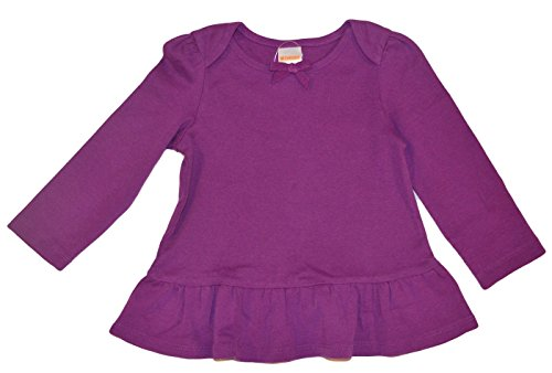 Gymboree Baby Girls Purple Fashion Top with Ruffled Bottom (18-24 Months)