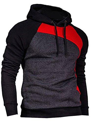 MINSNOWLER+Mens+Hoodies+Grey+Casual+Sweatshirt+Apparel+Mens+Grey+Sweatshirts+men+sweatshirt+hoodie+Tag+2XL+Color+F+%28UK+L%29