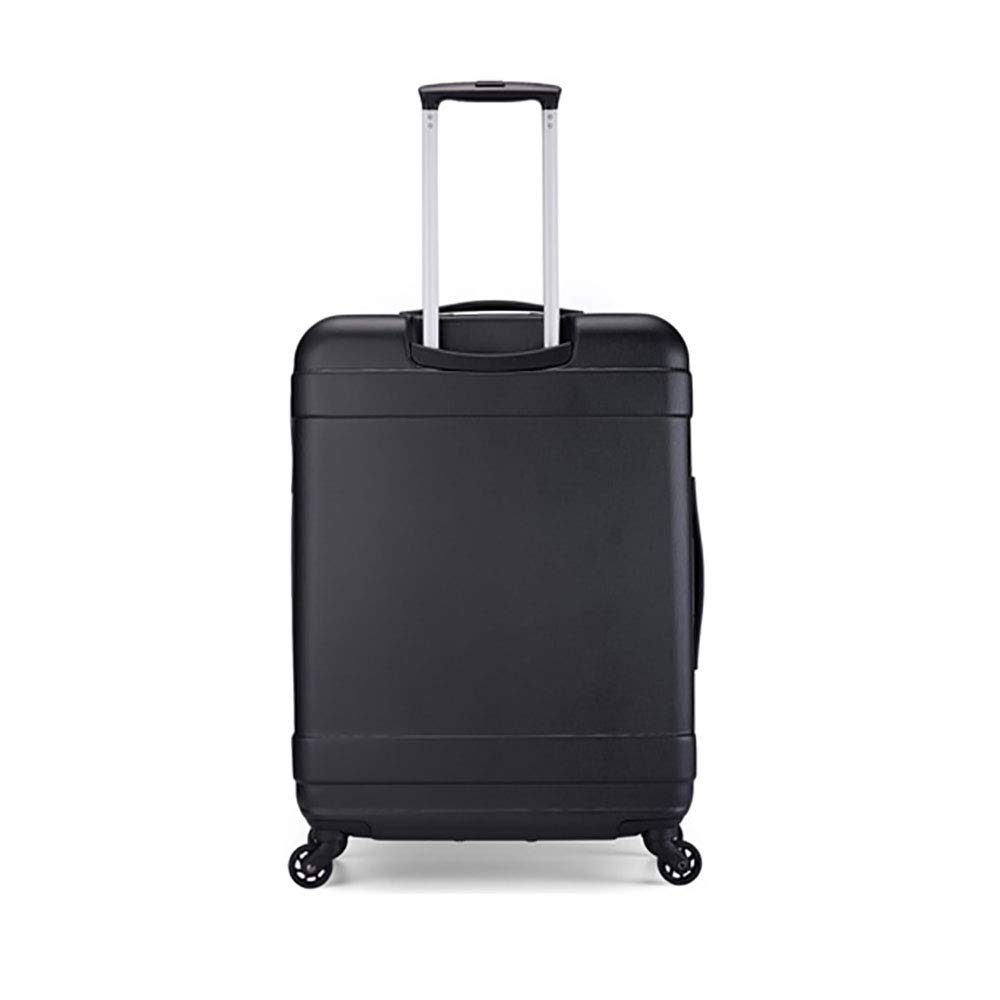 トロリーケースABS大容量ポータブル出張ミュートキャスタースーツケース B07MK79YG6 black