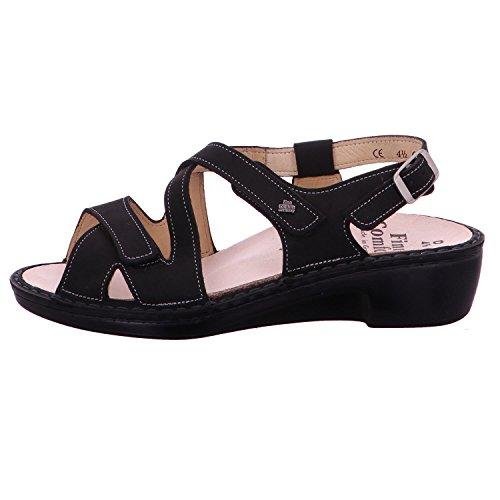 para Finn Negro Negro Vestir Negro Sandalias Comfort Mujer de 02685046099 U0prUqX