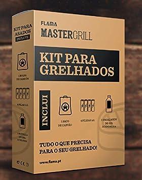 FLAMA Kit Barbacoa 4051FL (Carbon/4 Pilas/Gel): Amazon.es: Electrónica