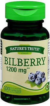 Nature's Truth Bilberry 1200 mg Quick Release Capsules - 100 ct, Pack of 5 by Nature's Truth