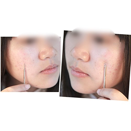 Silver Stainless Blackhead Comedone Acne Blemish Extractor Remover Pimple Pin Cosmetic Health Beauty Care Needle Tool - Heated Box Extractor