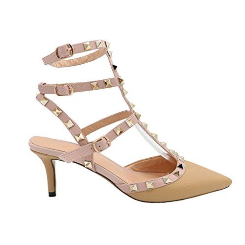 MERUMOTE - Zapatos de vestir para mujer Beige