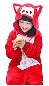 Betusline Girl Boy Flannel Pajamas Animal Onesies Cosplay Homewear Sleeping Wear