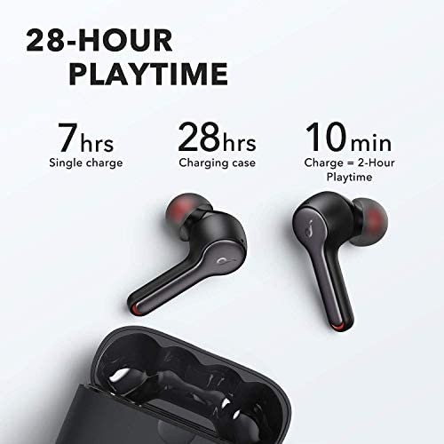 Anker Soundcore Liberty Air 2 Wireless Earbuds, Diamond-Inspired Drivers, Bluetooth Earphones, 4 Mics, Noise Reduction, 28H Playtime, HearID, Bluetooth 5, Wireless Charging(Renewed)