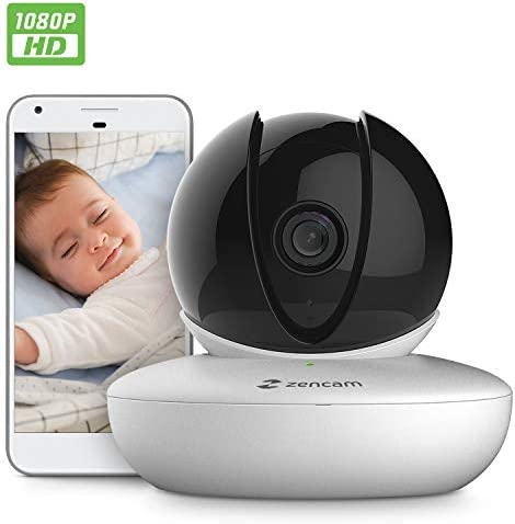 Amcrest Zencam 1080P WiFi Camera, Pet Dog Camera, Nanny Cam with Two-Way Audio, Baby Monitor with Cell Phone App, Pan Tilt Wireless Wi-Fi IP Camera, Micro SD Card, RTSP, Cloud, Night Vision, M2W White