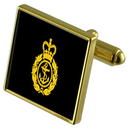 (Select Gifts Royal Navy Insignia Rank Chief Petty Officer Gold-Tone Cufflinks in Pouch)