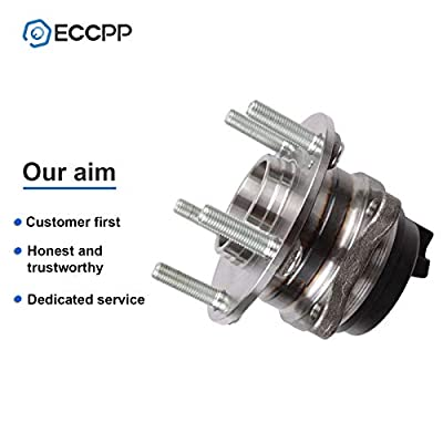 ECCPP Replacement for Wheel Bearing Hub 512326 X2 Hub Bearing Assembly Hub Assemblies Rear Axle 5 Lugs W/ABS Sensor for Hyundai Santa/Hyundai Veracruz: Automotive