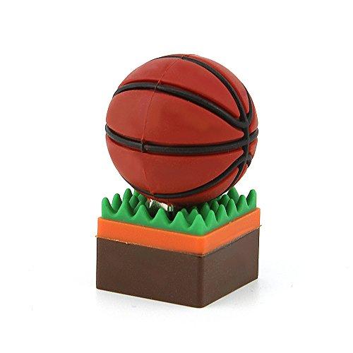 Usbkingdom 16GB USB 2.0 Flash Drive Sport Basketball Shape Pen Drive Thumb Drive Memory Stick Jump Drive Pendrive Flash Disk - Jumpdrive Sport Usb Flash Drive