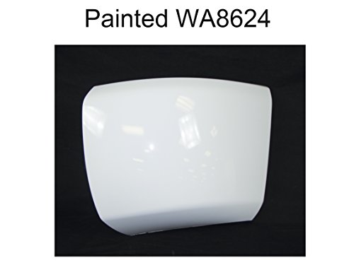 Painted WA8624 White FRONT BUMPER CAP END W/O FOG HOLE LH GM
