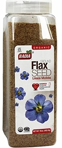 Badia Spices Organic Ground Flax Seed 16 oz. (Pack of 6)