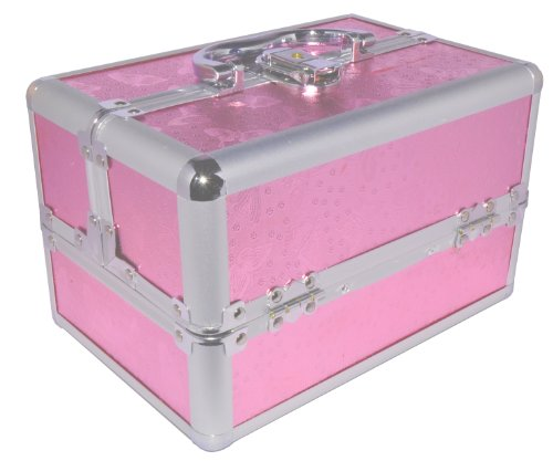 Eyelash Extensions Training Kit with Professional Beauty Case (Pink Case) by Eyelash Store