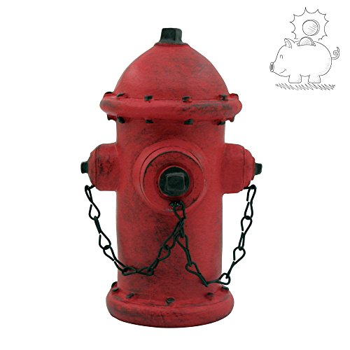 ornerx Resin Fire Hydrant Piggy Bank Money - Hydrant Piggy Fire Bank