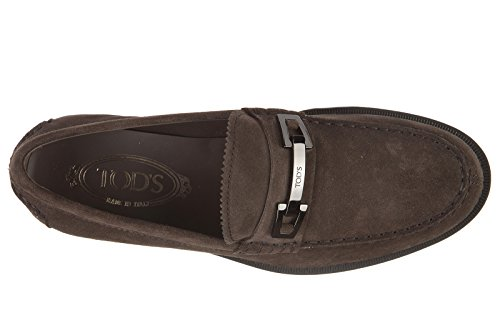 Tod's mocassins homme en daim macro clamp marron