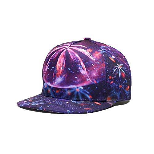 JPOJPO Men Women Baseball Cap Snapback Printing Flowers Couple Hip Hop Hats Quality Cotton Caps Bone 2# by JPOJPO