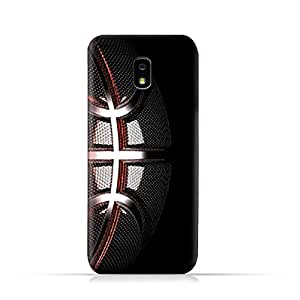 AMC Design Samsung Galaxy J7 2018 TPU Silicone Protective Case with Basketball Texture Pattern
