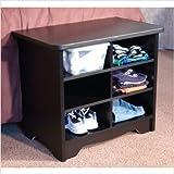 "6-Slot Shoe Organizer Cubby - Black (Black) (21""H x 24""W x 15""D)"