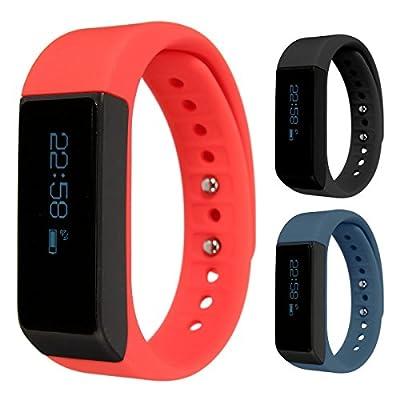 Smart Bracelet,ELEGIANT I5 Plus Waterproof Bluetooth 4.0 Sports Bracelet Pedometer Tracking Calorie Health Wristband Sleep Monitor For Samsung Andriod Smart Phones + Sports Bracelet Band