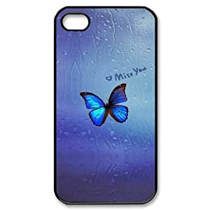 Beautiful butterfly New Printed Case for Iphone 4,4S, Unique Design Beautiful butterfly Case by lolosakes
