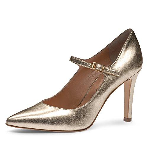 Dorado Zapatos de de Evita mujer vestir Shoes para dorado Piel Z76gwnqUHx