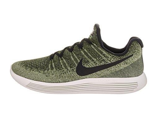 Nike Heren Lunarepic Low Flyknit 2 Ruw Groen / Zwart / Palmgroen Hardloopschoen 9 Heren Ons